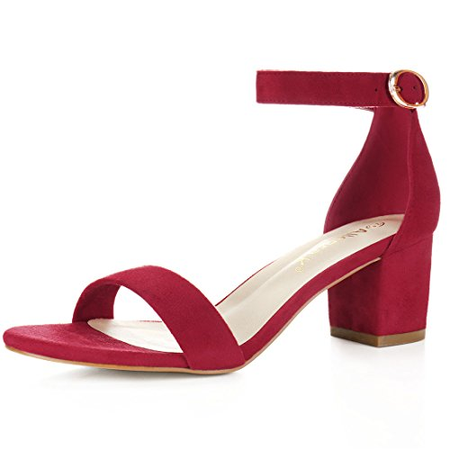 Used, Allegra K Women's Mid Block Heel Ankle Strap Sandals for sale  Delivered anywhere in Canada