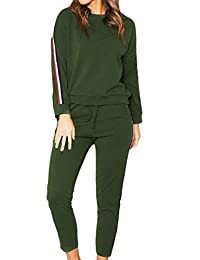 BU2H Womens Sportwear 2 Piece Outfits Sweatshirt Top and Sport Pants Tracksuit