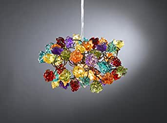 Pendant light - Colorful bouquet of roses - Chandelier -lampshade for living room-bedroom - hall or kitchen lighting.