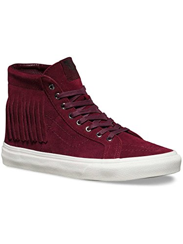 Vans SK8-HI MOC Womens Size 7 Suede Port Royale Red Fashion Skateboarding Shoes
