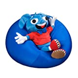 "Fun and Function Mushy Smushy Beanbag Chair, Age 1+ – Support Back & Hips While Providing Calming Benefits, 17"" Diameter"