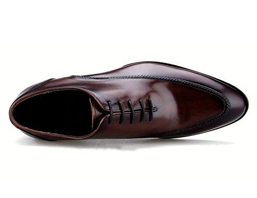 Homme Classique Commercial Leather Chaussures en Cuir pour Hommes British Style Hand-Couture Vêtements de Cérémonie Cuir (Couleur : Noir, Taille : EU43/UK8) Marron