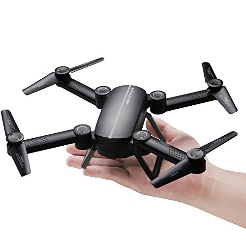 QQPOW X8 UAV Fold Remote Control / Cell Phone Control Folding Quadcopter Equipped with HD Camera Support HD Video 6-Axis Gyroscope Auto Height Hold, Headless Mode Quad Rotor Helicopter