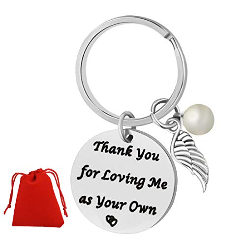 Mom Keychain Gifts for Mothers Day, Miayon Thanks Appreciation Gift from Daughter Son Kids for Christmas Birthday (Style-2)