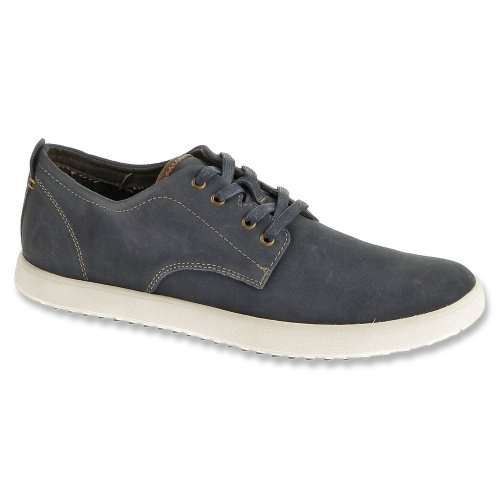 Hush Puppies Mens Roadside Oxford Navy Suede