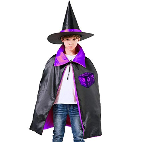 Darkness Rises Magic Cube Halloween Costumes Witch Wizard Cloak With Hat For Christmas Cosplay Boys Girls Purple