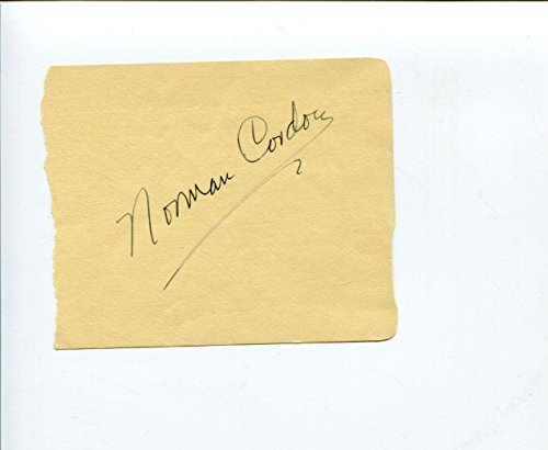 (Norman Cordon Metropolitan Opera Bass Baritone Singer Signed Autograph )