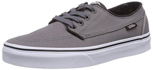 Vans Men Brigata Casual Classic Boat Shoes (7.5, (Canvas) Steel Gray)
