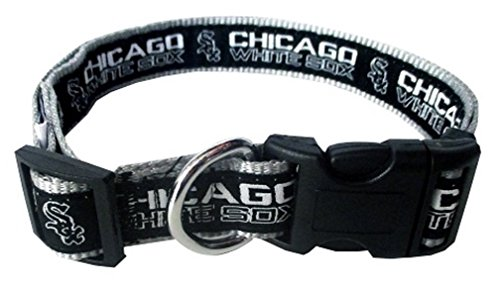 MLB CHICAGO WHITE SOX Dog Collar, Large