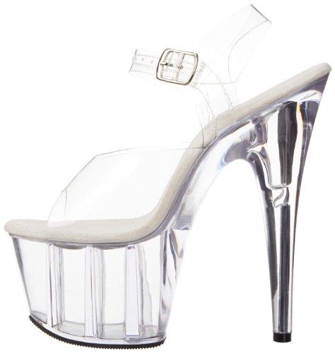 Mujer Ado708 Zapatos clear Pleaser c m Transparent W4aqwcSxnc