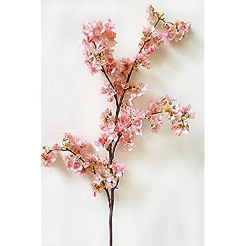 Amazoncom Artificial Spring Peach Blossom Cherry Plum Bouquet