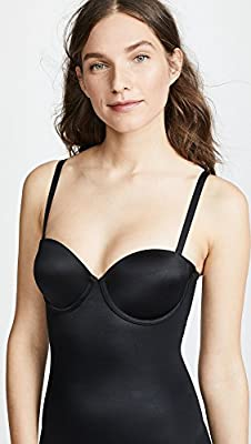 SPANX Womens Suit Your Fancy Strapless Cupped Mid-Thigh Bodysuit from Spanx