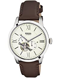 Men's ME3064 Townsman Stainless Steel Mechanical Watch with Brown Leather Band