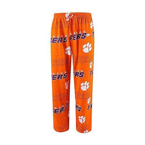 Sideline Apparel Men's Clemson Tigers Pajama Bottoms Lounge Sleep Pants ()