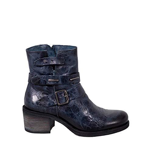Fermeture Véritable à en Cuir Bleu Bottes B285 Giani Felmini avec Bleu Tomber Amour Chaussures éclair Femme ztwTq4vxO