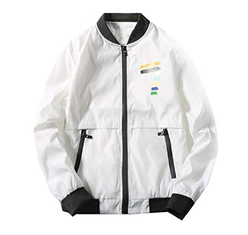 Autumn Sportswear Energy Baseball Mens Top White Casual Waterproof Jacket w5rXr7qCn