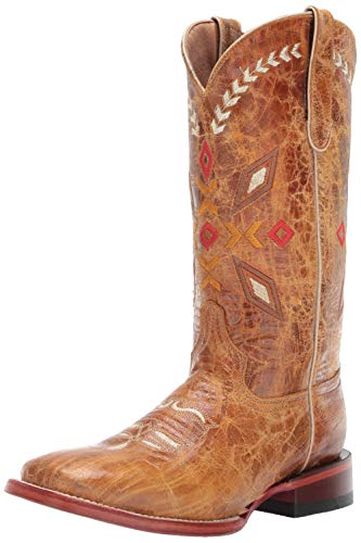 Ferrini Women's Autumn Western Boot, Antique Saddle, 8.5 B US