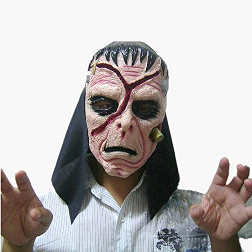 Halloween Horror Mask Disgusting Bloody Mask Costume Party Scare Props Scared Face Assassins Creed Cosplay Anonymous Mask Prank -