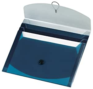 Pendaflex Slide File, Blue/Silver, Letter Size, 4 Sliding Pockets, Poly, 1 Each (50965)