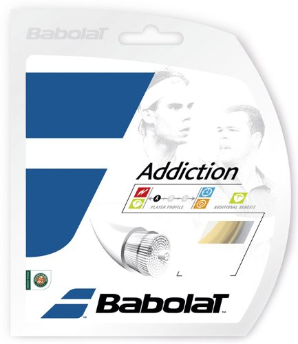 Babolat Addiction Tennis String Set (16G Set) Comfort Tennis String