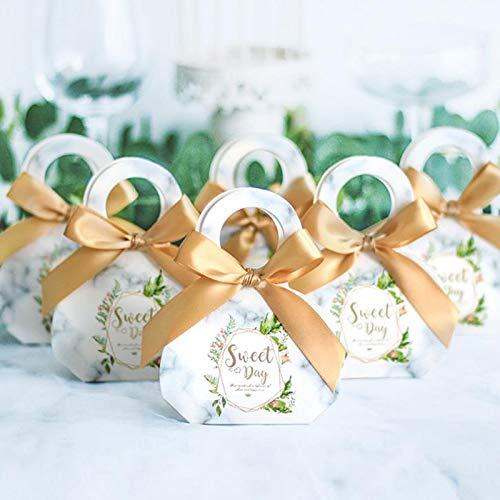 SHthree 20 Unids Kawaii Wedding Favor Box Bags Dulce Regalo ...