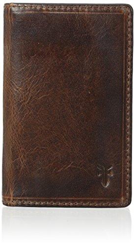 FRYE Men's Logan Small Antique Pull Up Wallet, Cognac, One Size (Mens Antique Cognac)