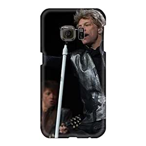 Shock Absorbent Hard Phone Covers For Samsung Galaxy S6 With Customized Nice Bon Jovi Band Pictures ChristopherWalsh