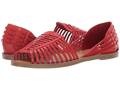 MIA Shoes Women's Pandora Ballet Flat, Red, 7.5 Medium US