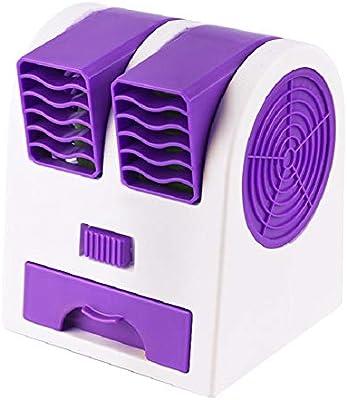 SHKY Ventilador de Escritorio para Ventilador, Doble Puerto con ...