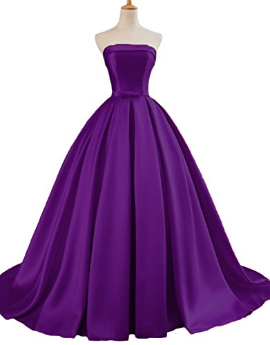 apless Ball Gown Prom Party Dresses 2018 Long Formal Dresses US12 Purple ()