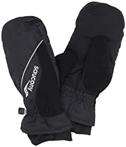 Saucony Men's Run Mitt Running Gloves (Large/X-Large, Black)
