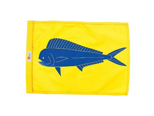 Sun Dot Capture Flags - Mahi-Mahi (Yellow Flag) (Fish Release Flag)