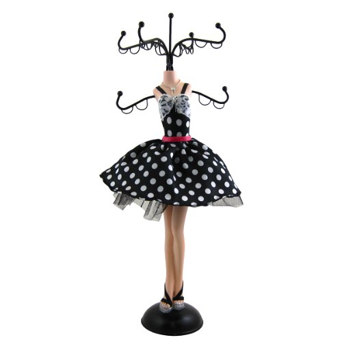 best accessories for black and white polka dot dress - 8
