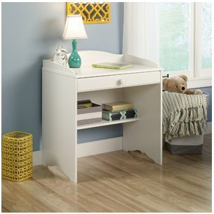 Sauder Storybook Desk, Soft White. Our Childrens Desk, is Kids Bedroom Furniture with Style and Storage SALE!! This Child Desk Has a Drawer and Storage Shelf. Kid Furniture That's Perfect for Homework or Just Drawing.