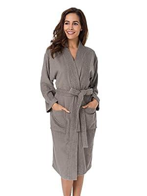 SIORO Men's Robe Cotton Bathrobe Long Soft Sleepwear Lightweight Shower Pajama Gown
