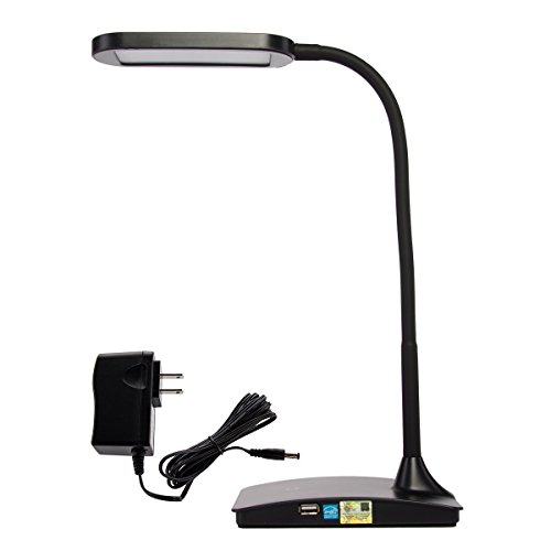 TW Lighting IVY-40BK The IVY LED Desk Lamp with USB Port, 3-Way Touch Switch, Black by TW Lighting (Image #3)