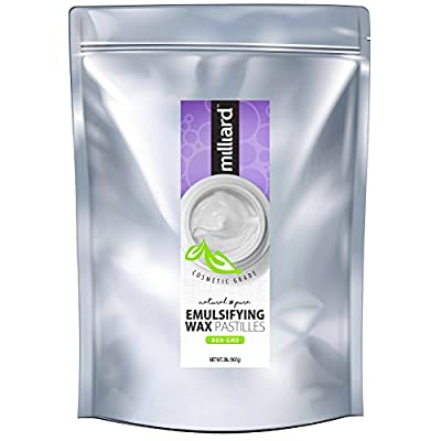 Milliard NON-GMO Emulsifying Wax Pastilles NF – 32 OZ. Resealable Freshness Storage Bag by Milliard