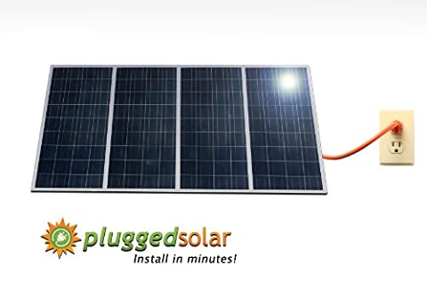 Plugged Solar, 1KW Solar Grid Tie system;(4 x 250 Watt Solar Panel) with Micro Grid Tie Inverters attached, Crystalline Solar panel, Prewired and Configured. Do It Yourself (DIY) Solar; Micro-inverter certified by ETL with UL1741 ;20-years Warranty ; Attach Easily to your Roof, Backyard, Patio or Fence