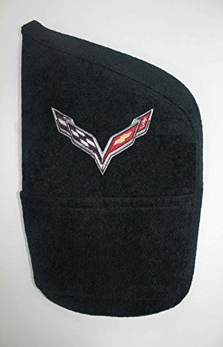 (Seat Armour KACORC7B Embroidered Logo Konsole Armour (for Corvette)