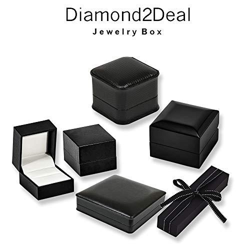 Diamond2Deal High Gloss Poplar Burlwood Inlay 3-Drawer Jewelry Chest for Women