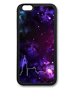 Black Case Cover For Apple Iphone 6 4.7 Inch ,Fashion Cool Art Galaxy Abstrack Castle Custom Protective Soft PC Back Case Cover For Apple Iphone 6 4.7 Inch