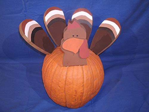 Turkey poke wooden turkey kit for pumpkin Rustick wooden turkey decor pumpkin decor 5 piece wooden turkey pumpkin decoration