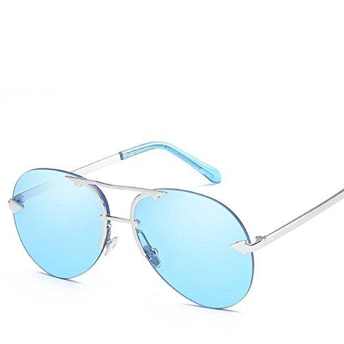 Aoligei Européens et américains sans frame Ocean film lunettes de soleil pilote flèche shing lunettes de soleil Sh9wXRhASx