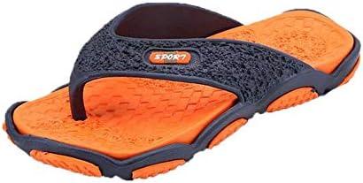 SELLM Zapatos de Masaje para Hombres para Zapatillas Masculinas Tallas Grandes 39-45 Moda Verano Hombres Chanclas Zapatos Casuales Suaves para Hombres, Naranja, 39: Amazon.es: Hogar