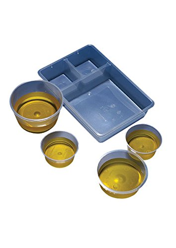 AZLON GWY530 Plastic, Gallipot Trays, 3 Compartment (Pack of 200)