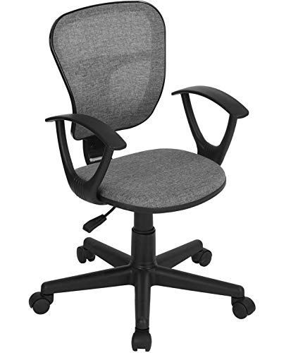 Coavas Kids Desk Chair Mid-Back Mesh Task Study Chair Adjustable Height Ergonomical Chair for Students Teens Children Home Office Computer Gaming Studying (Grey) FLYING-18