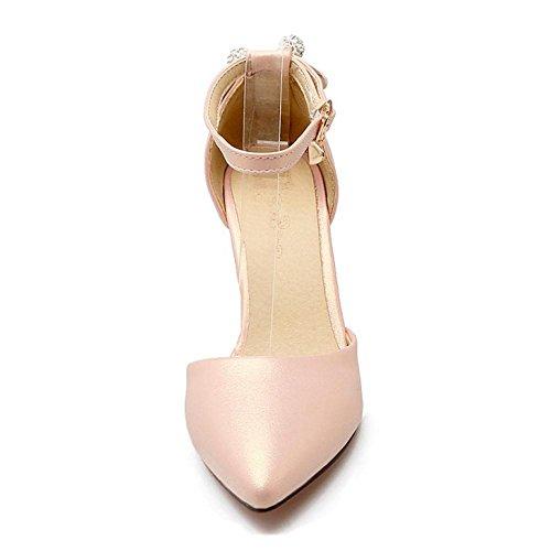 Vestidos Mujer RAZAMAZA Pink Para de Zapatos Tacon Alto 7c5W5TFwq