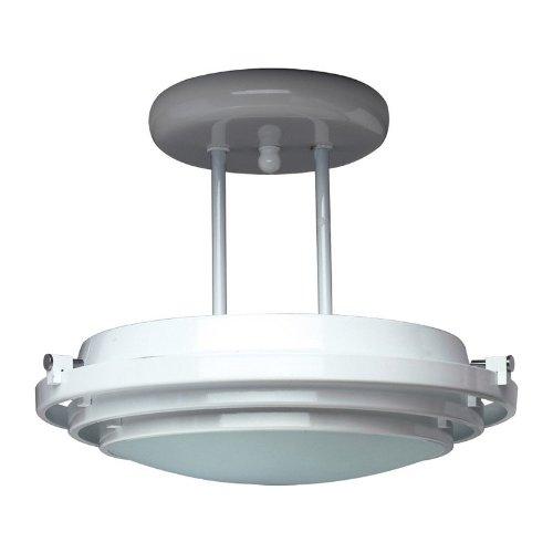 PLC Lighting 1614 BK Cascade Collection 1 Light Semi Flush Mount, Black