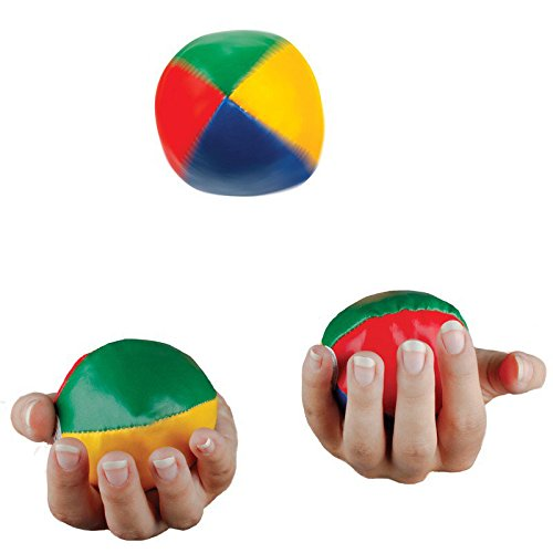 3 Classic Juggling Balls Faux Leather Ball Filled Stitched B4H