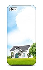 Flexible Tpu Back Case Cover For ipod touch5 - House